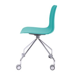Turquoise Office Chair Round Chairs For Living Room Hebe Series Molded Plastic Designer