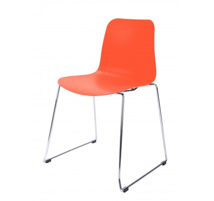 plastic chairs with stainless steel legs pier one swing chair hebe series navy dining shell side molded black orange metal