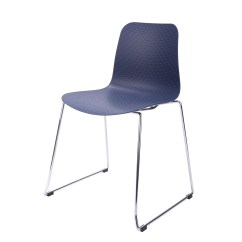 Chair Steel Legs Orange Velvet Hebe Series Navy Dining Shell Side Molded Plastic