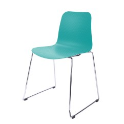 Plastic Chairs With Stainless Steel Legs Hanging Chair Kmart Hebe Series Turquoise Dining Shell Side Molded