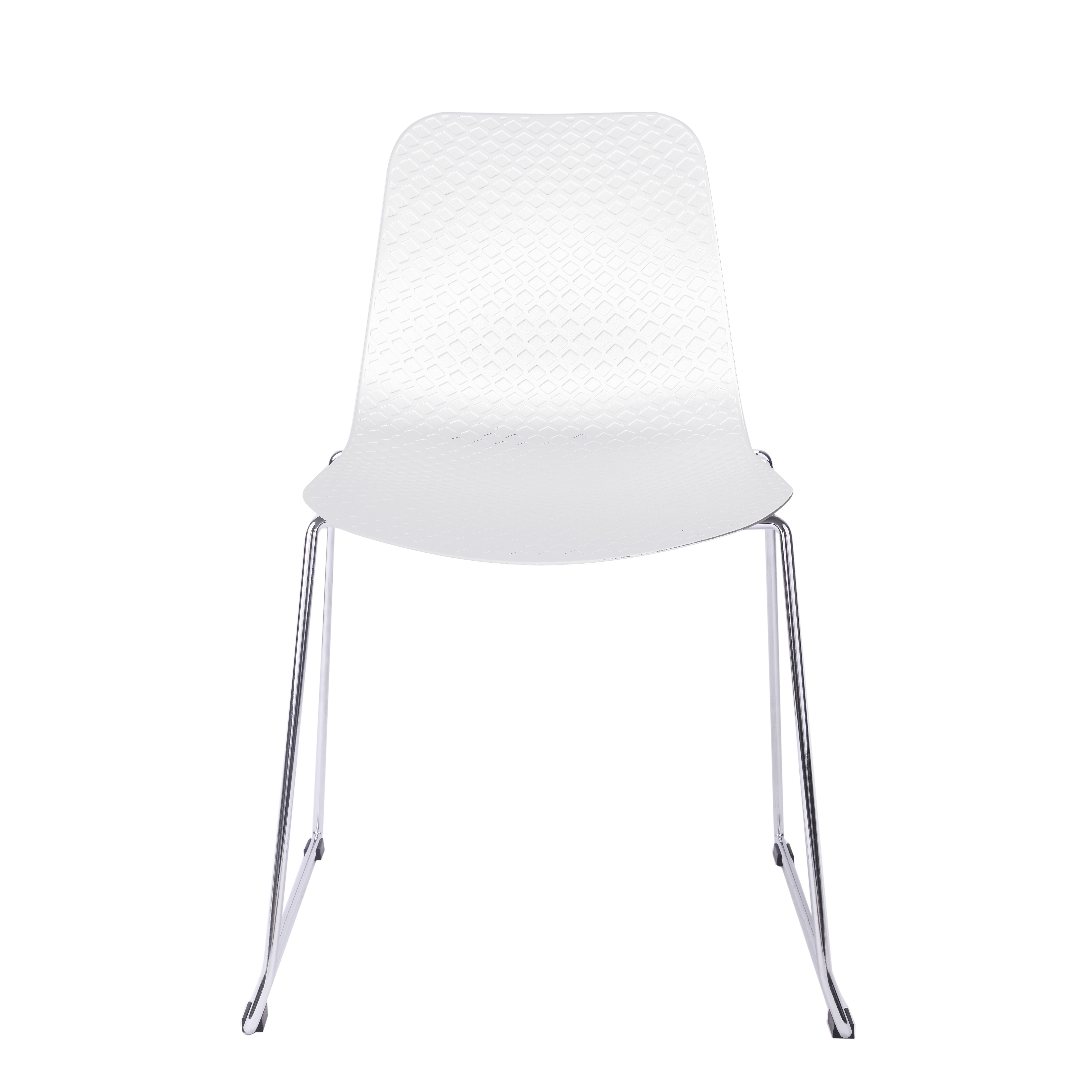plastic chairs with steel legs dwr salt chair hebe series white dining shell side molded