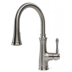 Brushed Nickel Kitchen Faucet With Sprayer Discount Table Sets Chess Design Lead Free Pull Out Allora