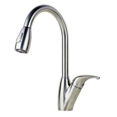 Kitchen Faucets With Sprayer Blue Wall Clocks Ariel Tulip Stainless Steel Lead Free Pull Out Faucet