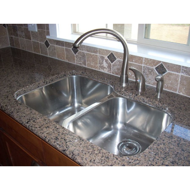 sinks kitchen french style furniture 31 inch stainless steel undermount 60 40 double bowl sink 32 18 gauge
