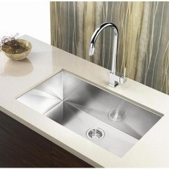 36 Inch Kitchen Sink Decor Stores Stainless Steel Undermount Single Bowl Zero Radius Design