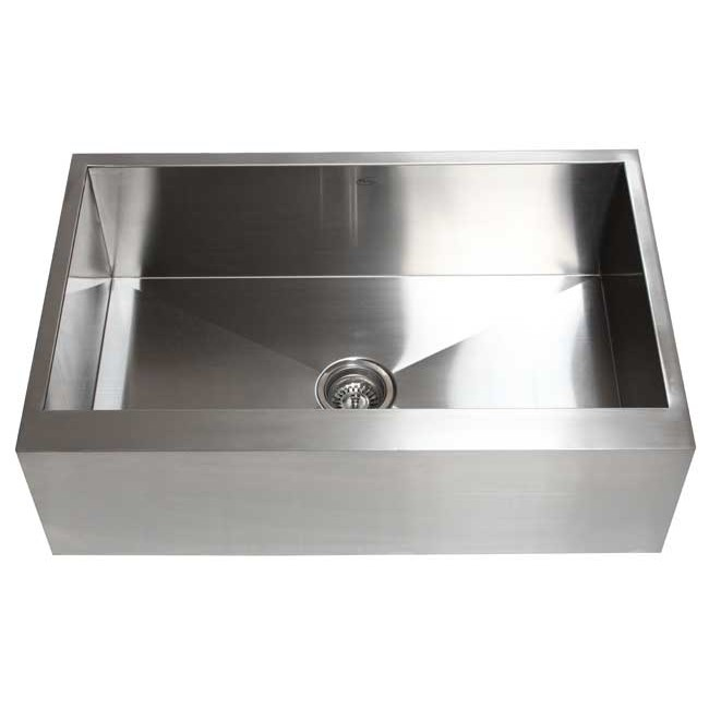 30 kitchen sink black faucets inch stainless steel single bowl flat front farm apron