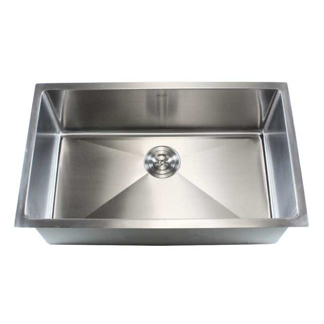 single bowl stainless kitchen sink arm chairs ariel 30 inch steel undermount 15mm radius design 16 gauge display gallery item 1 2