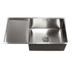 Single Bowl Stainless Kitchen Sink Remodel 36 Inch Steel Undermount With Drain Board