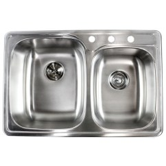 Kitchen Sink Amazon Anti Fatigue Mat 33 Inch Stainless Steel Top Mount Drop In 60 40 Double Bowl 18 Gauge