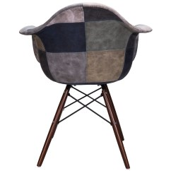 Tub Fabric Accent Chair Patchwork Sunbrella Lounge Replacement Mooku Blue And Gray Leatherette Upholstered