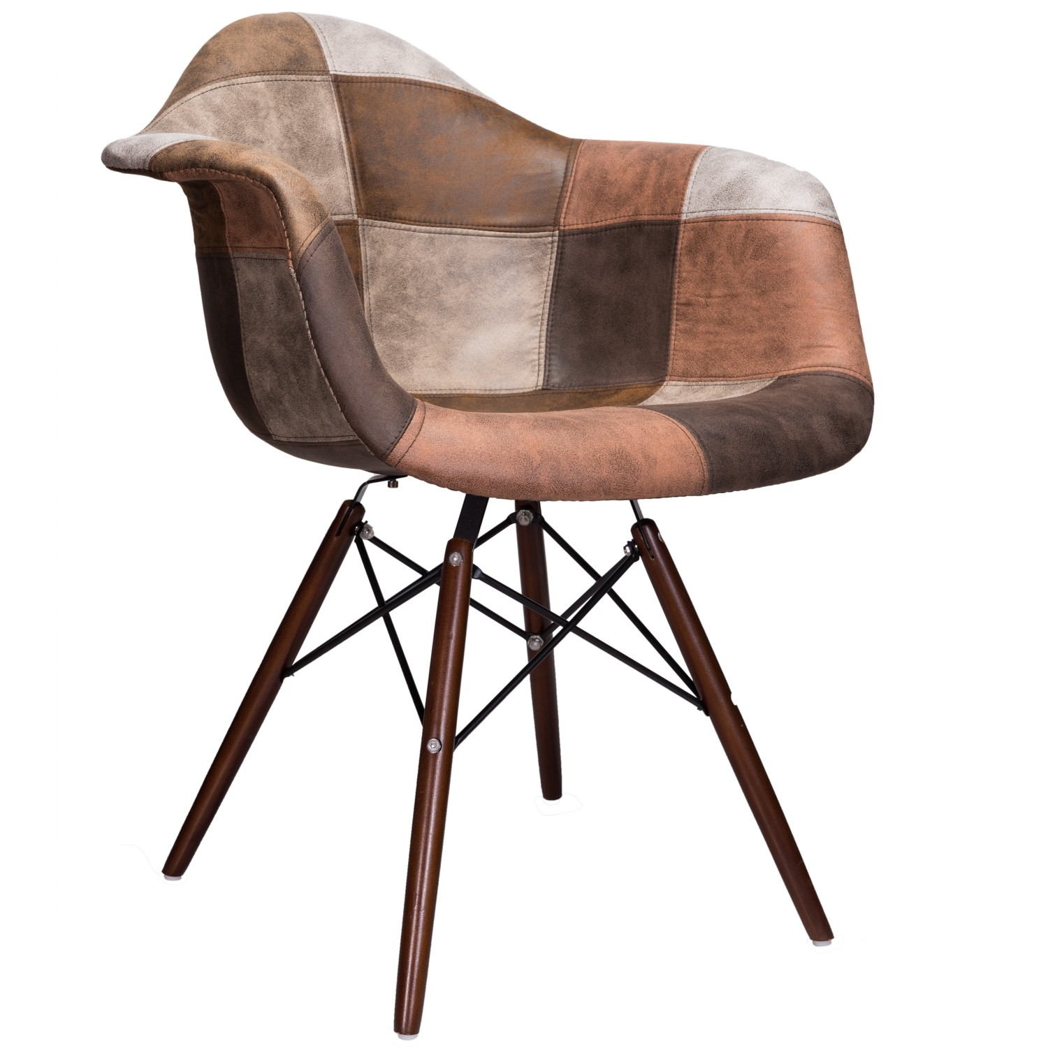 tub fabric accent chair patchwork best nursery chairs mooku brown leatherette upholstered daw