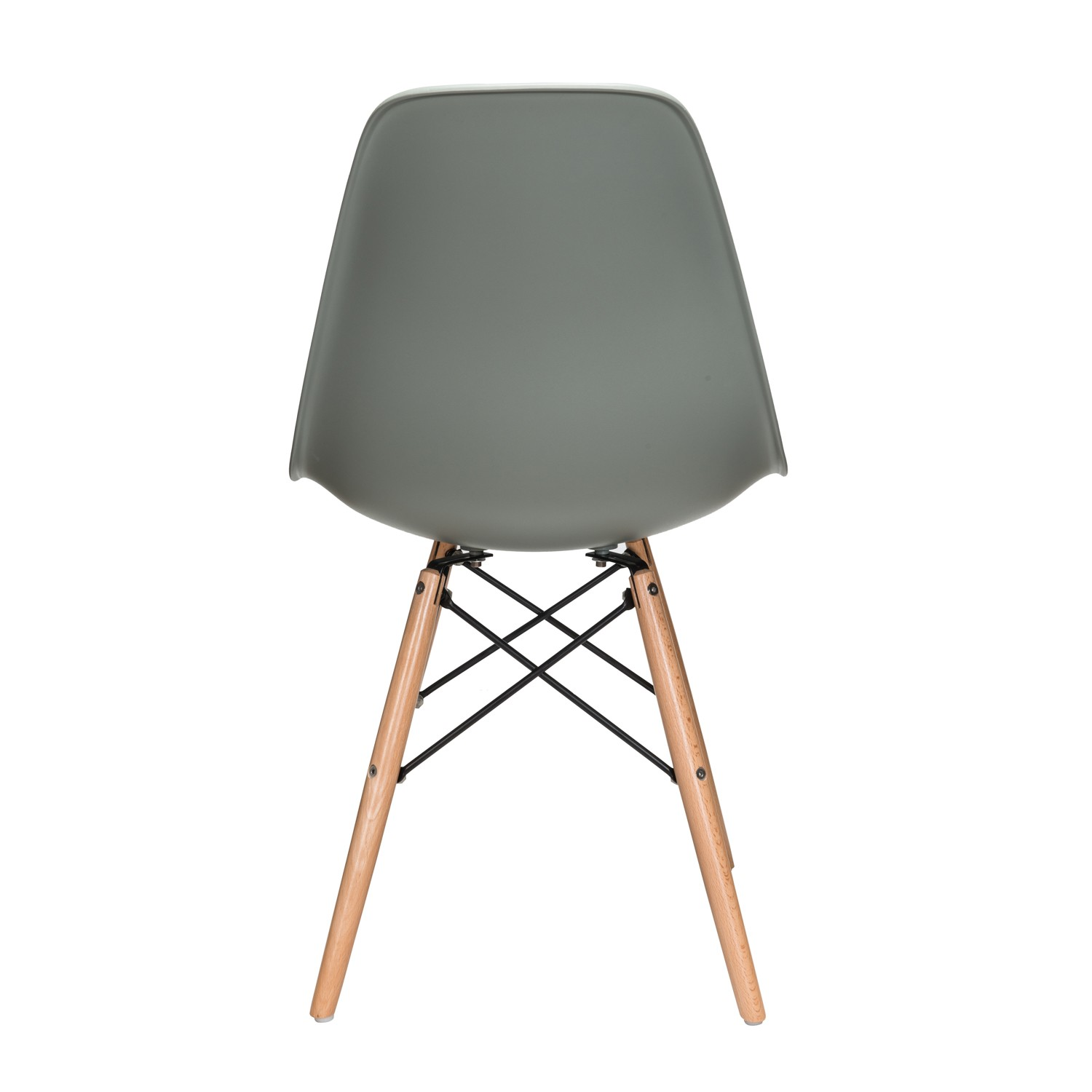 eiffel dining chair with beech legs mid century side nature series moss gray dsw molded plastic