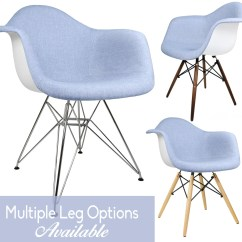 Eames Arm Chair Best Chairs Geneva Glider Espresso Wood Grey Velvet Blue Denim Fabric Upholstered Style Accent