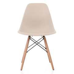 Eiffel Dining Chair With Beech Legs Paddington Lounge Nature Series Cream Beige Eames Style Dsw Molded Plastic Side Natural Wood ...