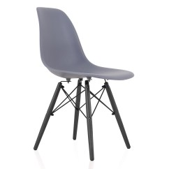 Black Plastic Chair With Wooden Legs Most Comfortable Folding Chairs Eames Style Dsw Molded Dining Side
