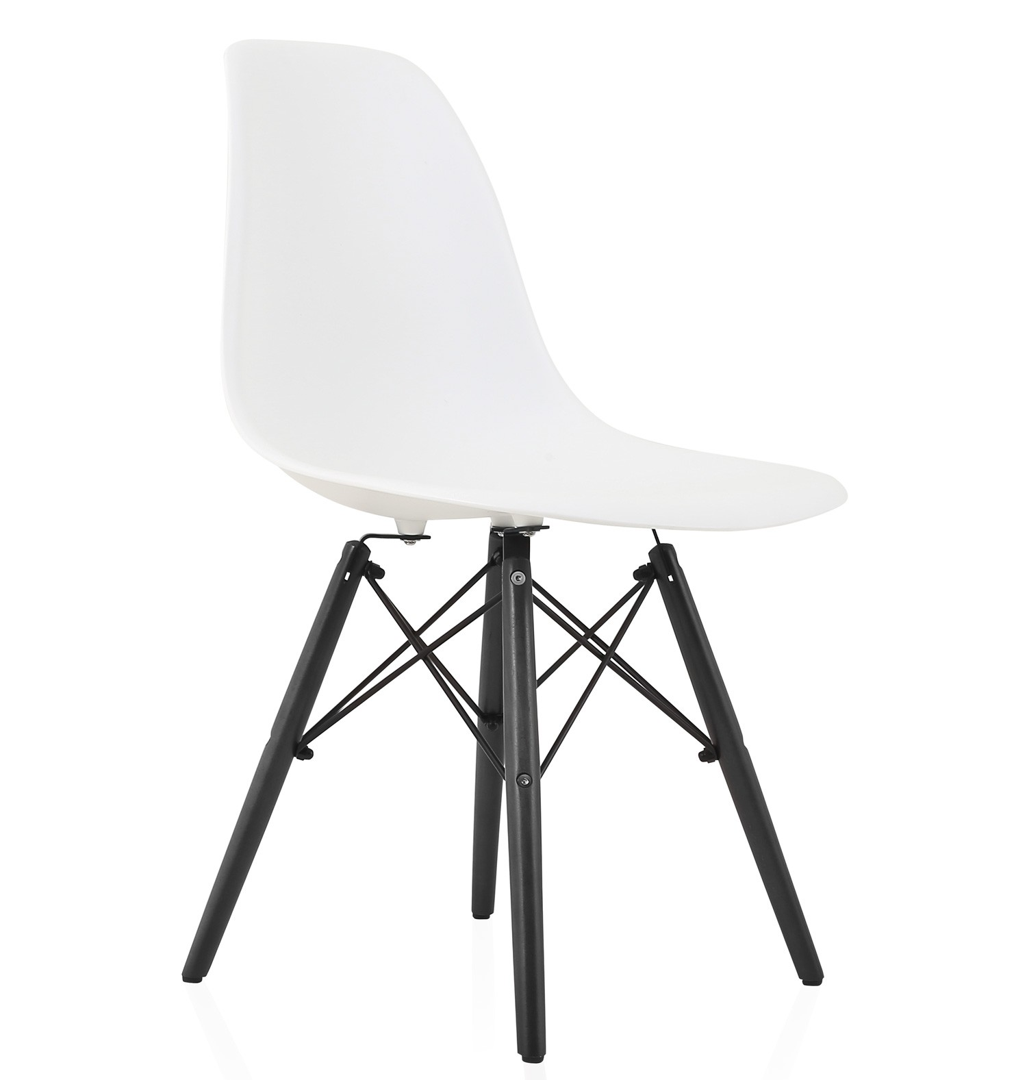 black plastic chair with wooden legs double seater camping eames style dsw molded dining side