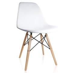 Eiffel Dining Chair With Beech Legs Bedroom Ebay Nature Series Wood Grain Dsw Molded Plastic Side