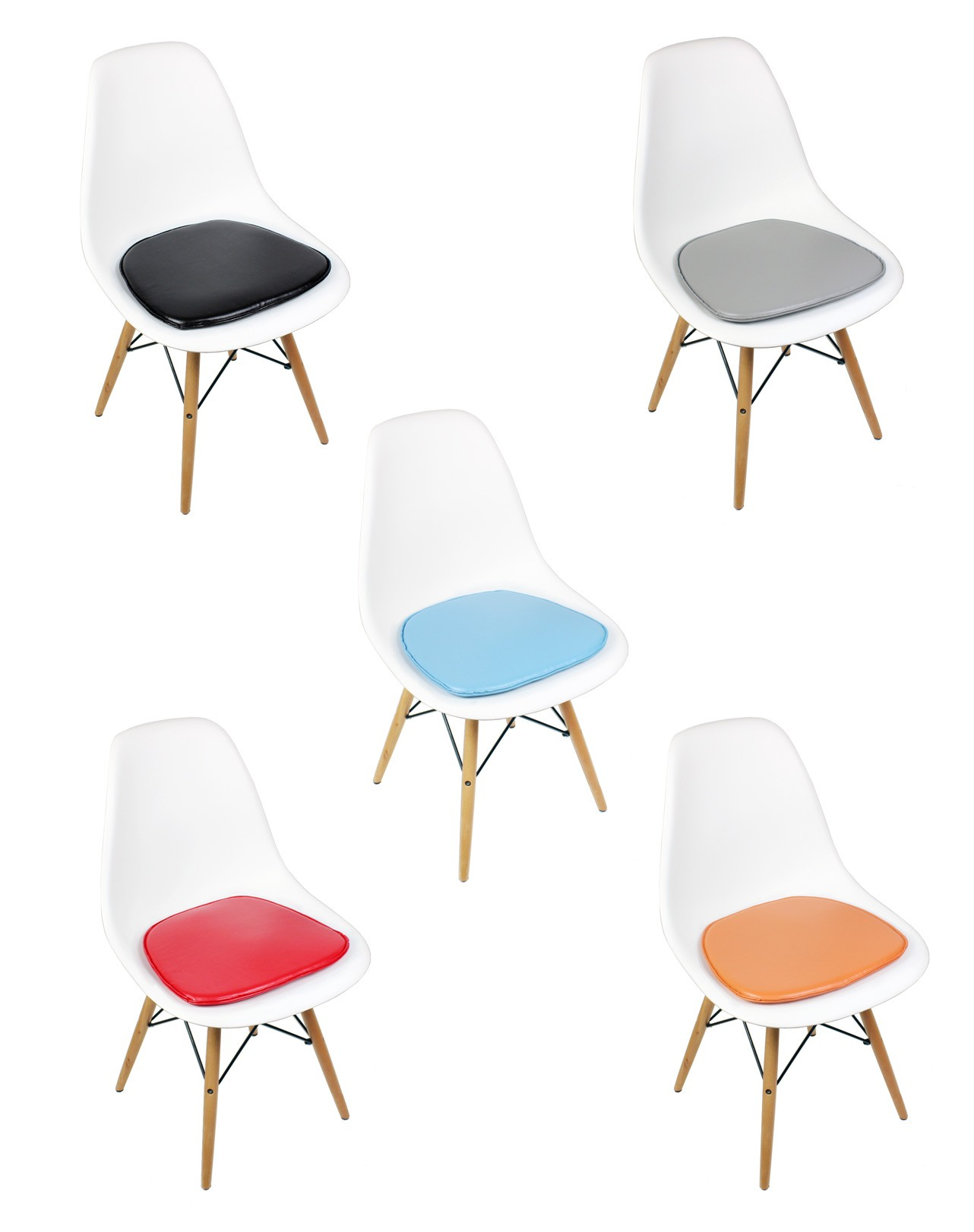 Eames Style DSW Molded White Plastic Dining Shell Chair