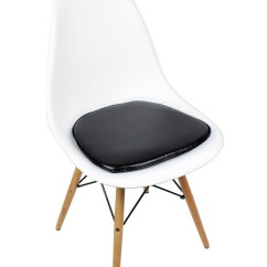 Acrylic Desk Chair With Cushion Folding Under $10 Eames Style Dsw Molded White Plastic Dining Shell