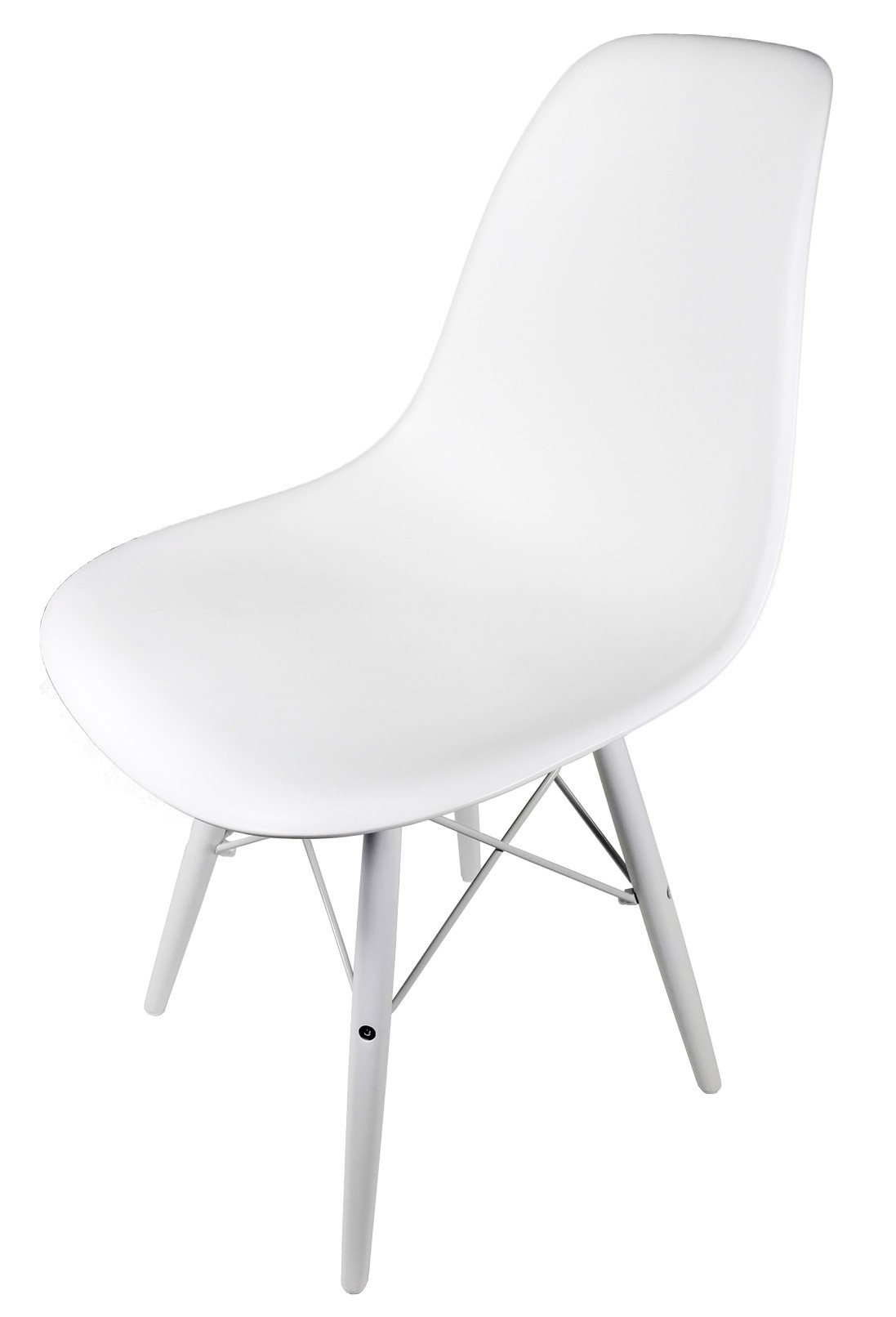 white plastic chair quest folding eames style dsw molded dining shell