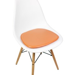 White Cushion Chair Twin Sofa Sleeper Eames Style Dsw Molded Plastic Dining Shell