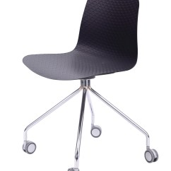 Steel Chair For Office Tech Furniture Hebe Series Black Molded Plastic Designer Task With Your Purchase Receive At No Cost