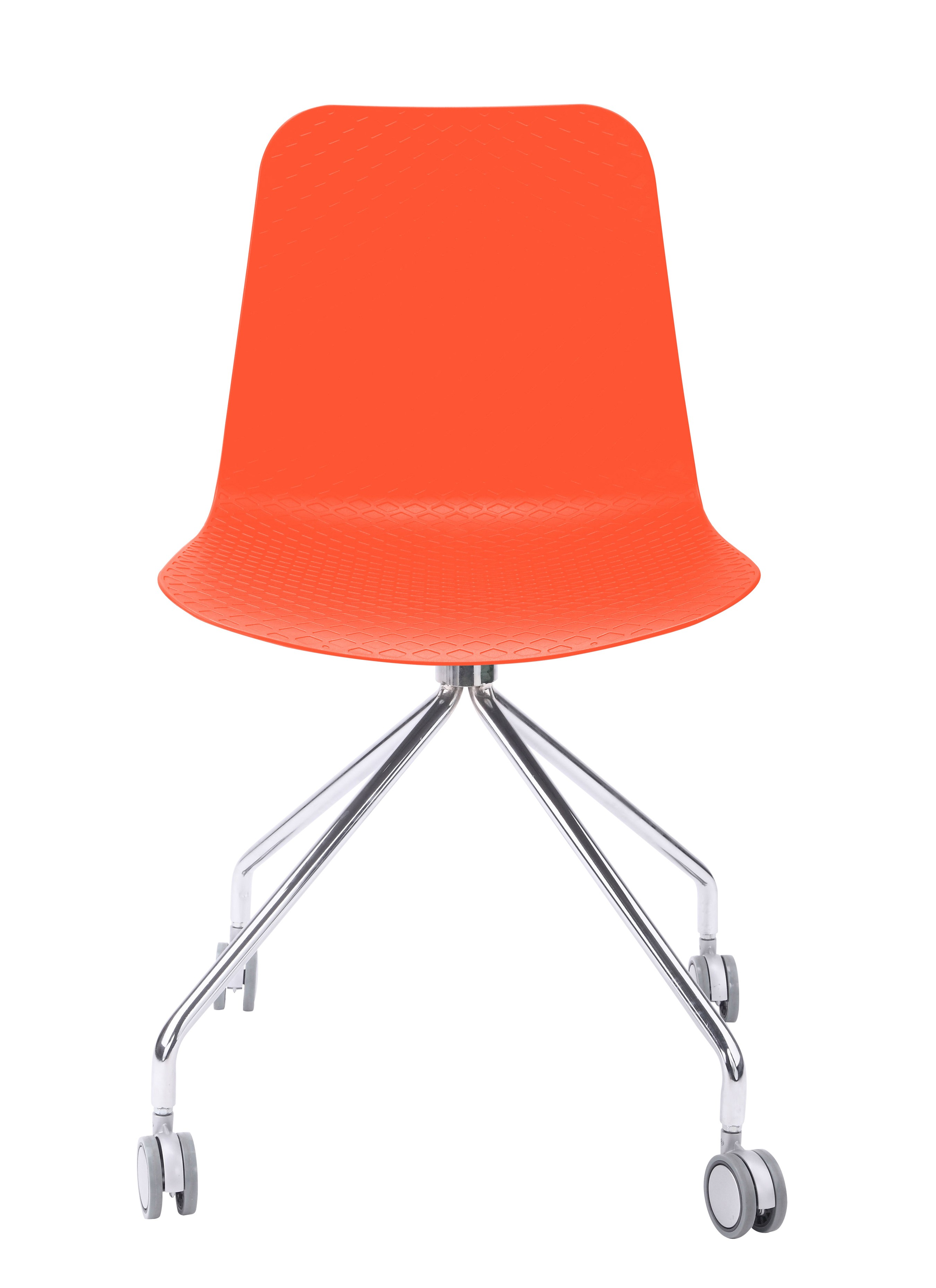 orange office chair fully adjustable ergonomic hebe series molded plastic designer task with your purchase receive at no cost