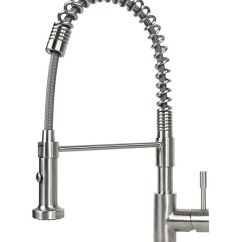 Stainless Steel Kitchen Faucets Table Sets With Bench European Style Lead Free Coil Spring Duel Spout Brushed Nickel Ariel Solid Single Handle Pull Out Sprayer Faucet