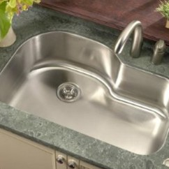 Stainless Steel Undermount Kitchen Sinks Sink Brands 32 Inch Offset Single Bowl Regular Price 536 00