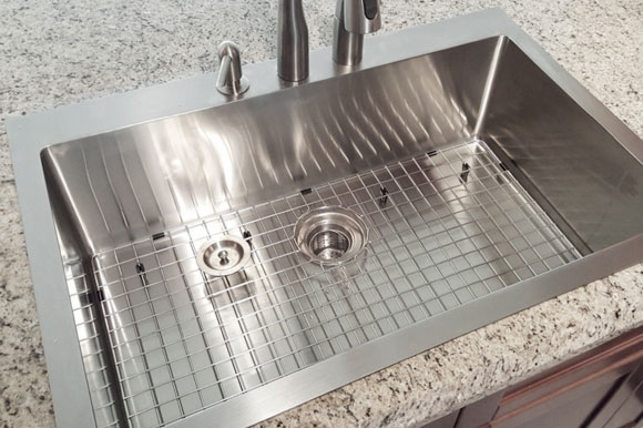 ss kitchen sinks brizo faucets top mount drop in stainless steel