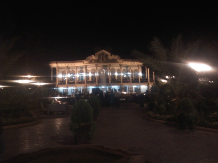 After we left, we walked around a bit and found a pretty palace--nothing new, just Iran!