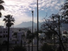 The Rif mountains in the background of Tetouan.
