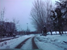 Coming back to Ifrane after being in Marrakech to find snow, snow...and more snow.