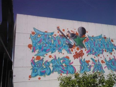 Street art in Fes.