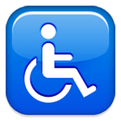 Wheelchair Emoji Travel Potty Chair Symbol For Facebook Email Sms Id 866