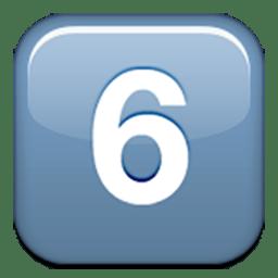 Keycap Digit Six Emoji