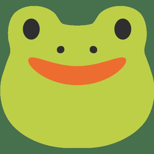 frog face emoji for
