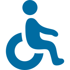 Wheelchair Emoji Bar Height Folding Chairs Symbol For Facebook Email Sms Id 8077