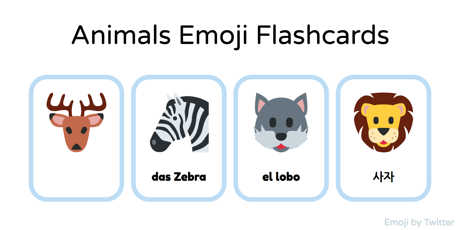 Animals Printable Flashcards