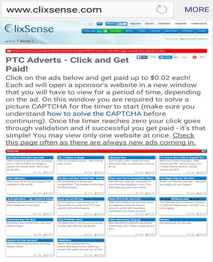 ClixSense, Clix Sense Best PTC Site