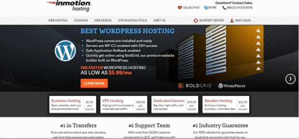 Best Web Hosting Company Inmotion