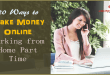 20 Ways to Make Money Online Working from Home Part Time