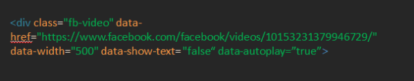 Embed and AutoPlay Facebook Videos in WordPress Blog
