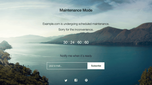 WP Maintenance Mode — WordPress Plugins