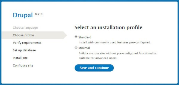 Drupal comes with a streamlined basic installation
