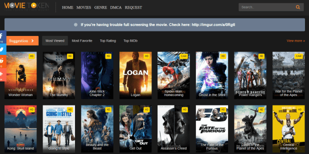 Top 10 Places to Watch Movies Online for Free Without Downloading Movietoken.net