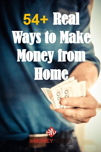 50+ legitimate ways to make money at home