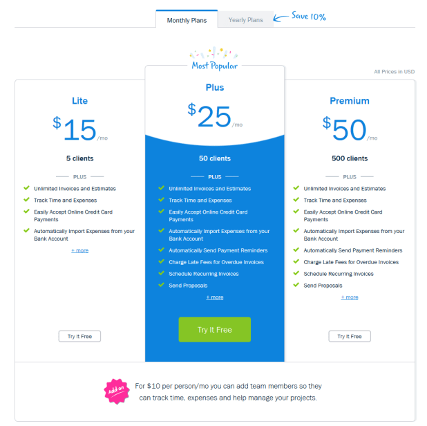 FreshBooks - free invoicing software for small business