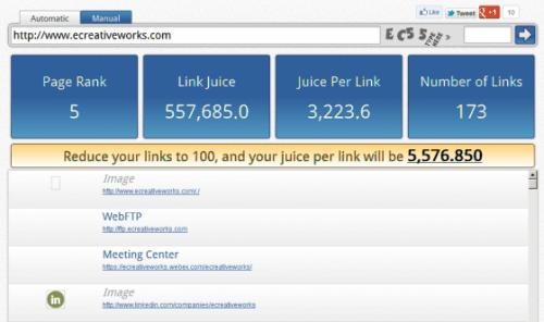 Internal Link Juice Tool