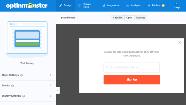 create stunning popup subscribe forms